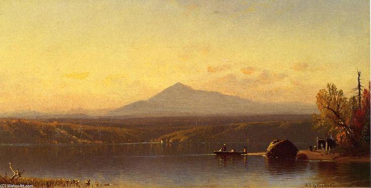 Le Walkin Pond, New Hampshire, huile sur toile de Alfred Thompson Bricher (1837-1908, United States)