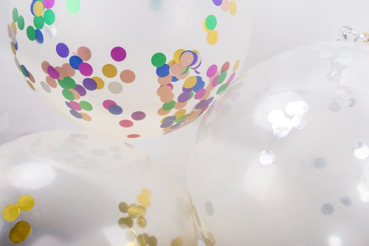 36in Confetti Filled Balloons with Curling Ribbon for Wedding and Party Decorations (8 pack) Available in 5 colours by MarcheUnique on Etsy