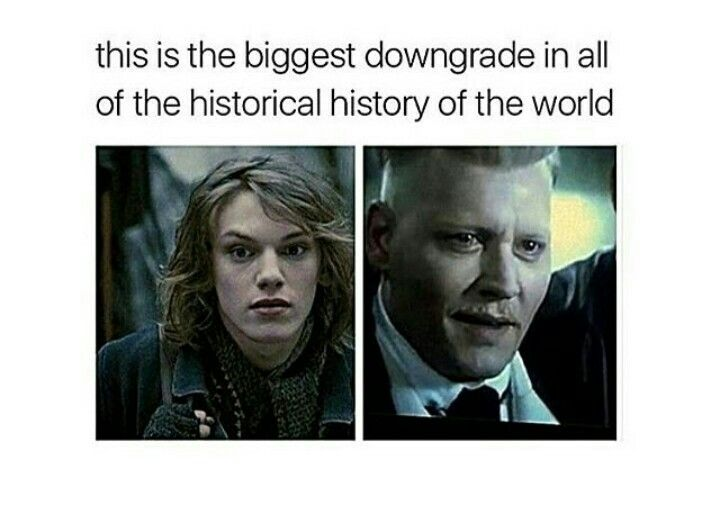 Jaymie Campbell Bower to Johnny Depp to Michael Byrne. They really need to put Micheal's Grindewald up here too. Fantastic Beasts and Where to Find Them. Grindewald. Racist!!