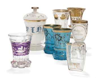 A GROUP OF CONTINENTAL GLASS  LATE 19TH CENTURY, AUSTRIAN AND BOHEMIAN  Price realised  GBP 1,250