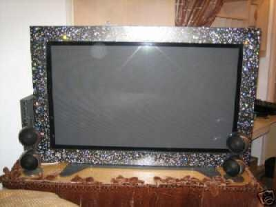 Panasonic First Swarovski Studded Framed Plasma TV up for Auction. Someone mush have money to burn