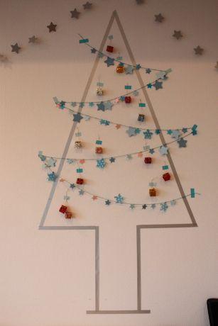 マスキングテープ クリスマスツリー 壁 - Google 検索