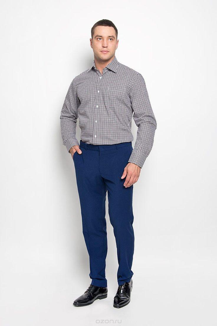 Рубашка мужская. SW 88-06SW 88-06Стильная мужская рубашка KarFlorens, выполненная из натурального хлопка, подчеркнет ваш уникальный стиль и поможет создать оригинальный образ. Такой материал великолепно пропускает воздух, обеспечивая необходимую вентиляцию, а также обладает высокой гигроскопичностью. Рубашка с длинными рукавами и отложным воротником застегивается на пуговицы спереди. Рукава рубашки дополнены манжетами, которые также застегиваются на пуговицы. Модель оформлена актуальным…