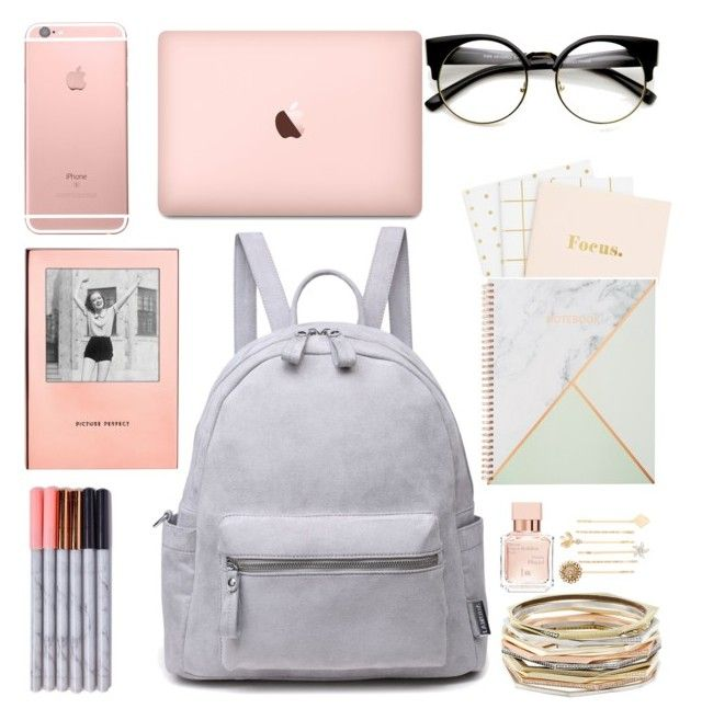 """¿Que hay en mi mochila?"" by ari-santa-cruz ❤ liked on Polyvore featuring Kate Spade, Kendra Scott and Maison Francis Kurkdjian"