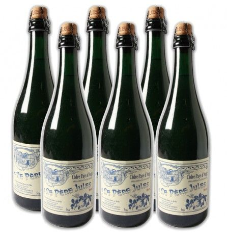 Case of 6 bottles Dry Apple Cider Le Pere Jules 5% 750ml