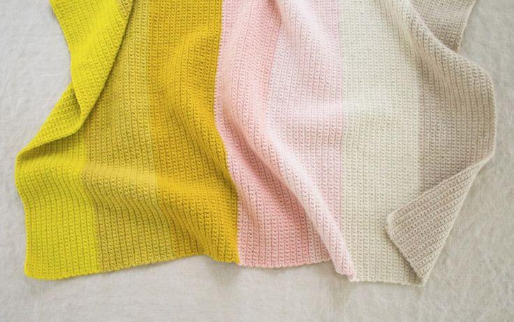 Purl Soho's crocheted Super Easy Baby Blanket