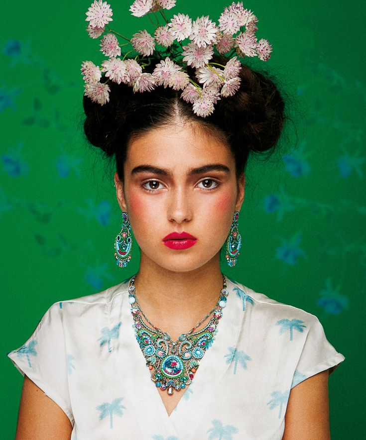 "❀ Flower Maiden Fantasy ❀ beautiful photography of women and flowers - Alaya Bar, nella ""realtà"" di Frida Kahlo | beautytudine"