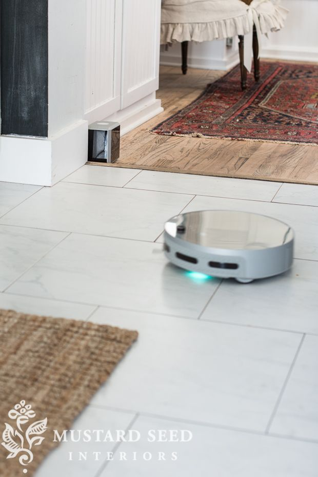 """When someone sends you an e-mail asking if you would like to try out their robotic mop and vacuum, you say yes. You just do. Because it's a robotic vacuum AND mop! Before I had the studio and I worked from home, I felt like I was able to keep the house cleaner, except when we were in the """"fuzzy-floor-days"""" of Lucketts prep. The studio has relieved my house of the duties of being a photo studio, storage facility, and headquarters of Mustard Seed Interiors, but it's also meant that I'm not…"""