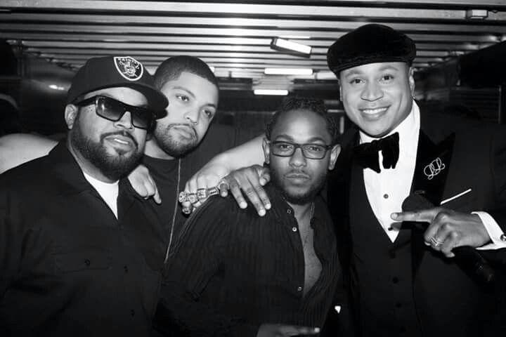 Grammys 2016 LL, O'Shea Jackson (Sr & Jr), & Kendrick Lamar