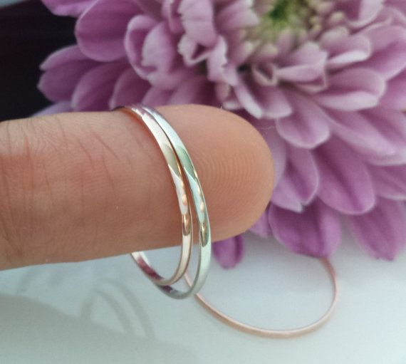 Super dunne Slim 950 platina trouwring spacer ring door AiylaMaison