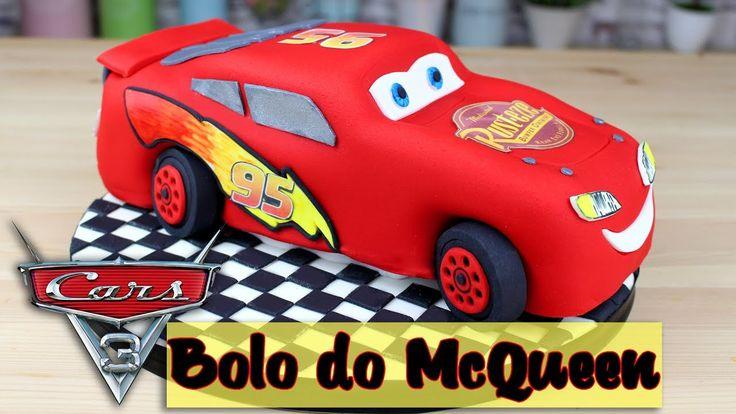 Bolo do Relâmpago McQueen   Como Fazer Bolo do Relâmpago McQueen   Cakep...