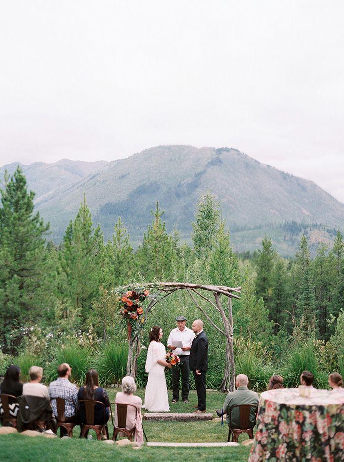 Stunning Natural Park Elopement Ceremony