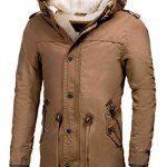INDICODE Hommes Veste chaude Lined Parka d'hiver à Capuchon De Veste De Manteaux Transition Jacket Mens Outdoor Jacket Veste d'hiver…
