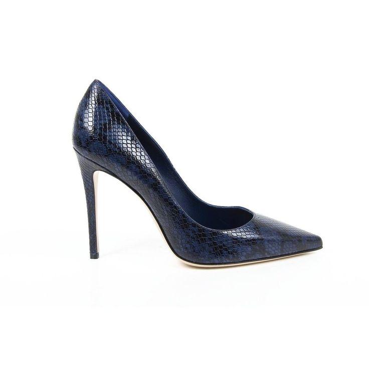 100% Authentic Ladies Pump Womens Blue VERSACE 19 69 ITALIA Womens Pumps High Heels