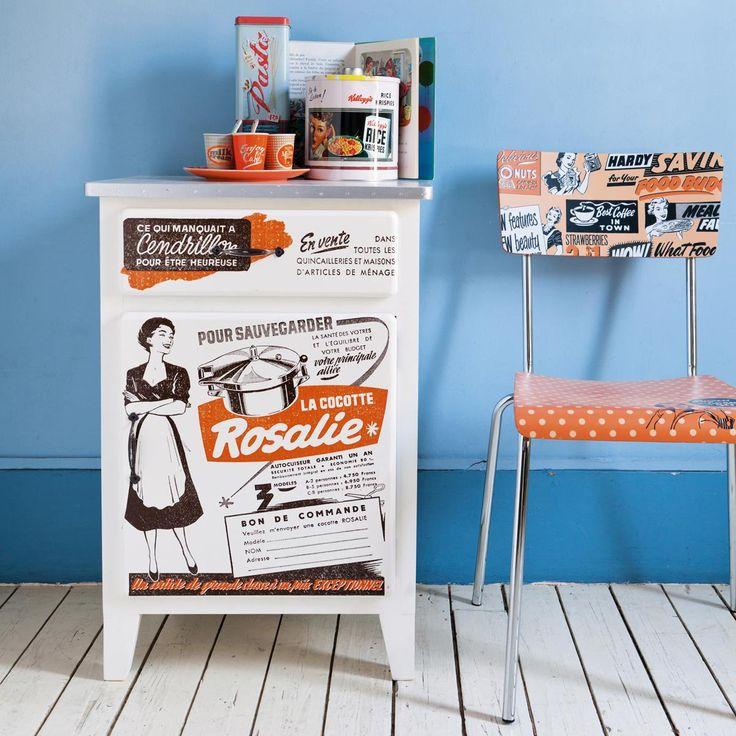 Piccola credenza bassa da cucina-armadietto vintage ROSALIE