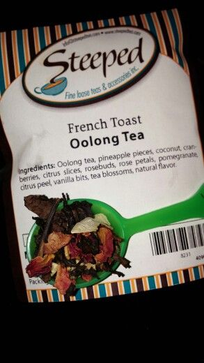 French toast oolong tea by steeped  tea