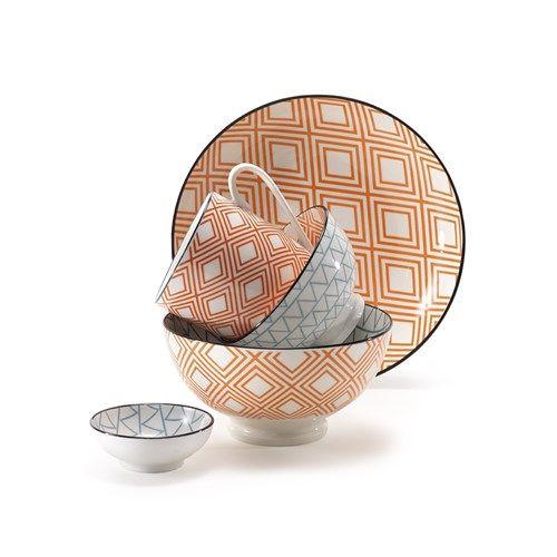 Ambrosia Koko Rex Large Bowl 15cm Diamond Orange