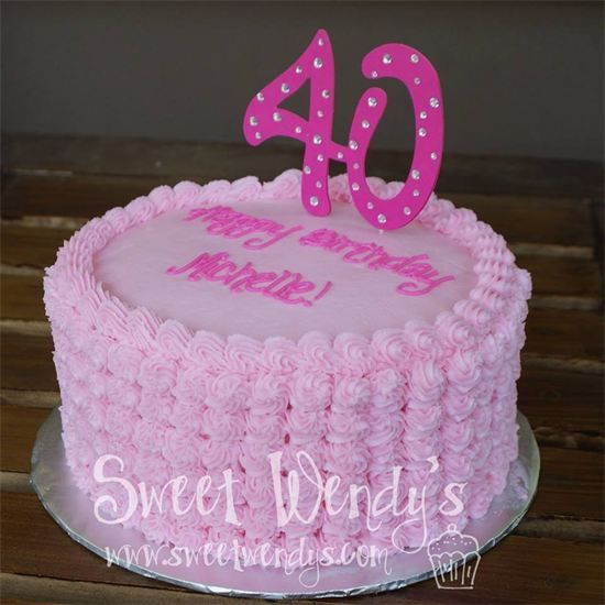 1000+ Images About 40th Birthday Cakes On Pinterest
