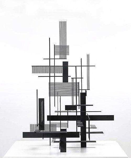 Architecture & Art by Sidney Gordin 1955 #architecture #art #constructivism #minimalism_world #sidneygordin by anadapuzzo