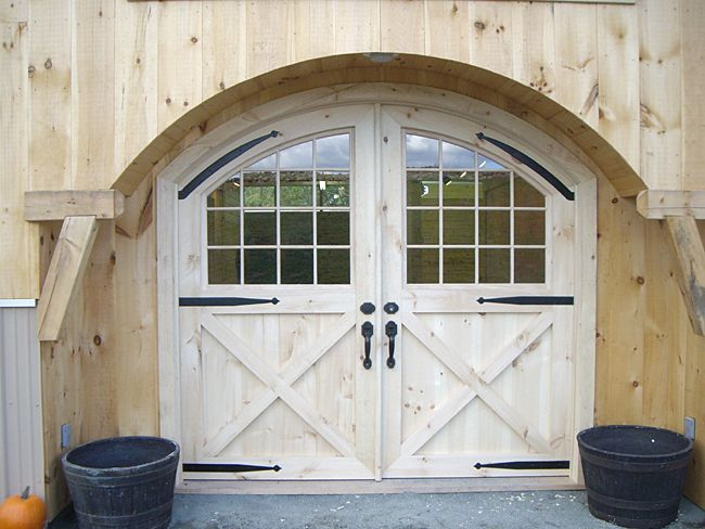 Rustic Style Double Dutch Door With Architectural Hardware.