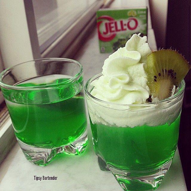 KEY LIME JELLO SHOTS  Lime Jello Key Lime Rum Whipped Cream