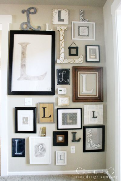Making a wall of the initial of your name.  Super cute and fun idea!
