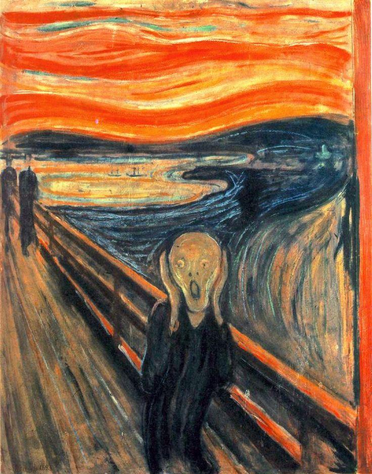 Autor: Edvard Munch Data: 1893 A pintura de 1893 faz parte de uma coletânea…