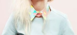 Pastel color beauty on collar ♡