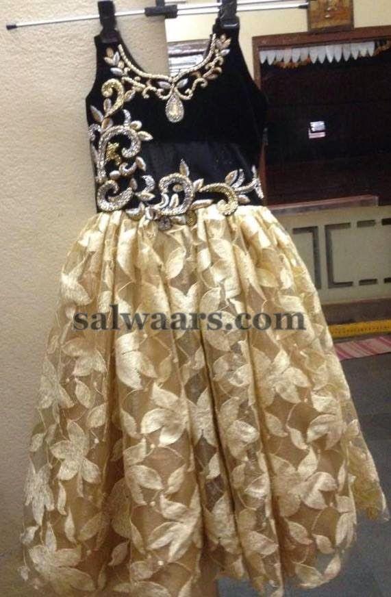 Printed Floral Net Frock Frocks For Kids Indian Dresses
