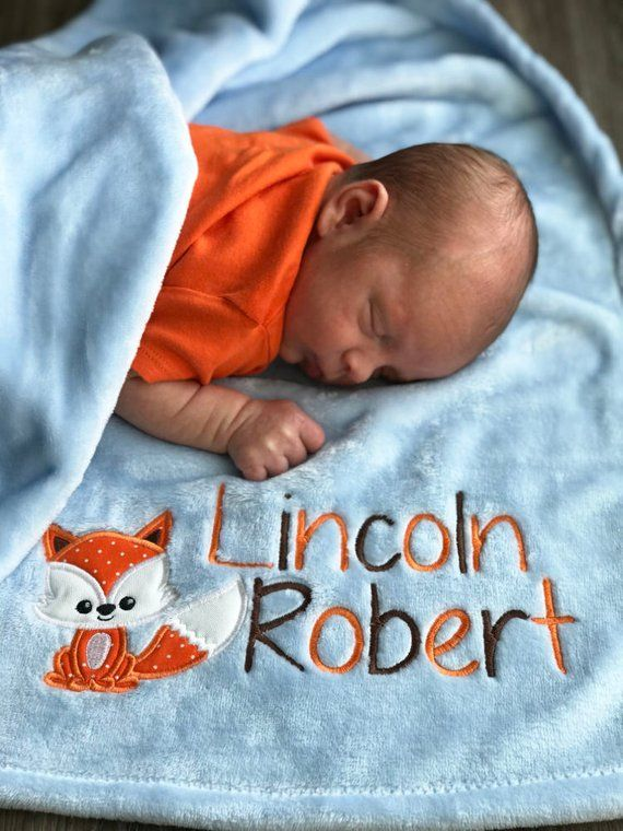 Gift Personalised New Baby Baby Shower Baby Boy Blanket