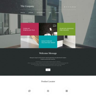 Interior Design Parallax Website Template