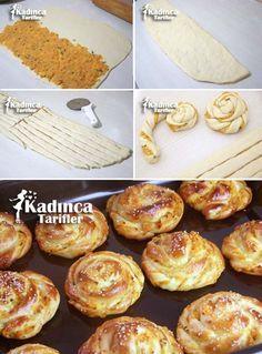 Patatesli Kıvrık Poğaça Tarifi Kadincatarifler.com - En Nefis Yemek Tarifleri Sitesi - Oktay Usta