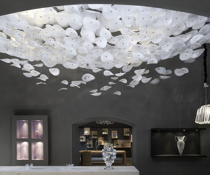 Original Design Ceiling Light Blown Glass Fluorescent