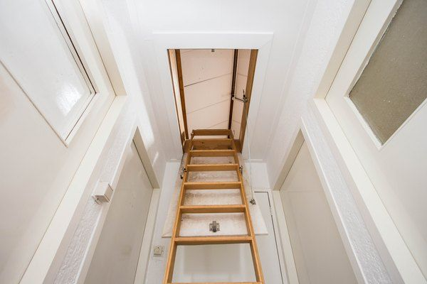 The Minimum Size For An Attic S Access In 2020 Wood Staircase Attic Access Door Attic