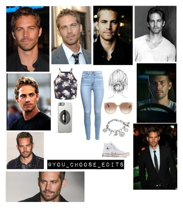 """""""PAUL WALKER"""" by anushared ❤ liked on Polyvore featuring VIVO, H&M, Anne Klein, Converse, Lipsy and Tom Ford"""