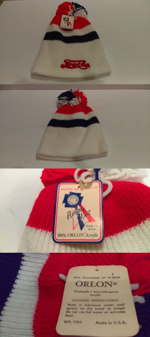 Mens Hats 163619  1980 S Vintage Pepsi-Cola Winter Skiing Knit Hat Mint  With Pedigree Knit Tag -  BUY IT NOW ONLY   22.88 on  eBay  vintage  winter   skiing ... ec12f0732f3