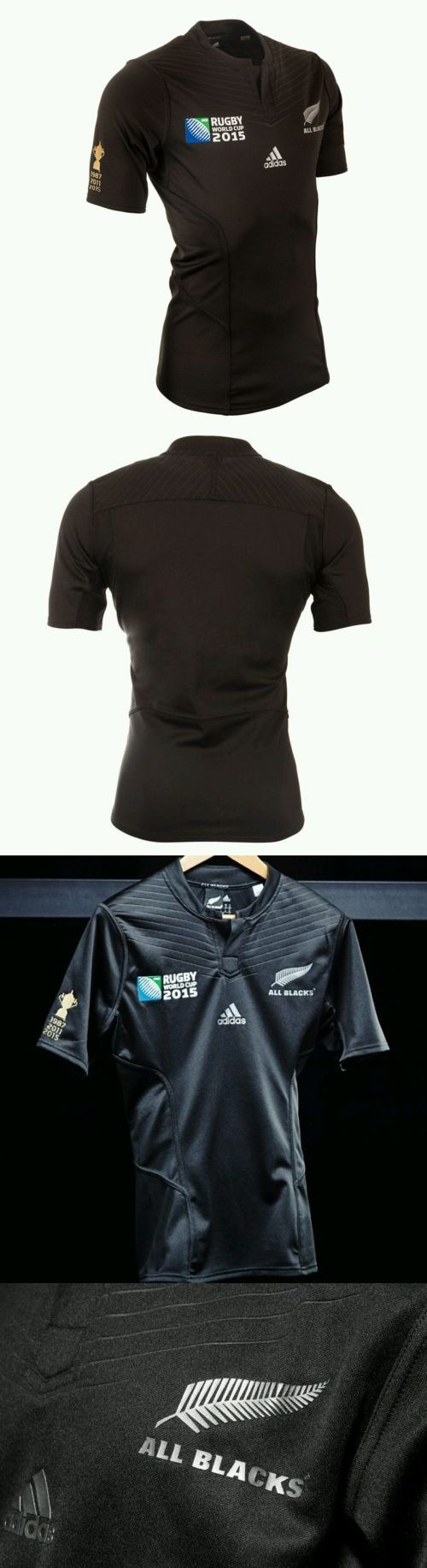 Rugby 21563: Bnwt New Zealand All Blacks Rwc2015 Winners Performance Rugby Jersey Size Large BUY IT NOW ONLY: $159.95