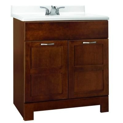 Glacier bay casual 30 in w x 21 in d x 33 5 in h vanity for Bathroom cabinets 33