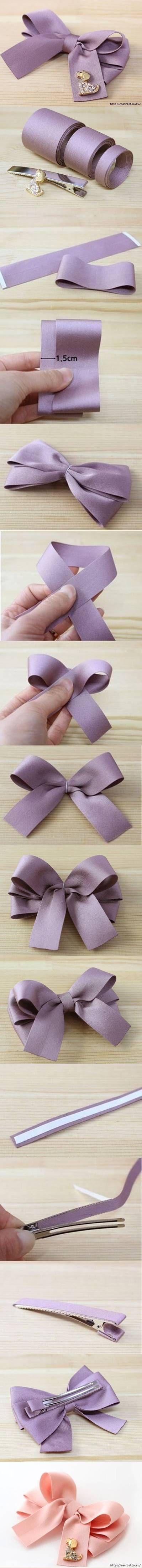 DIY Simple Bow Hairpin DIY Projects | UsefulDIY.com Follow Us on Facebook ==> http://www.facebook.com/UsefulDiy