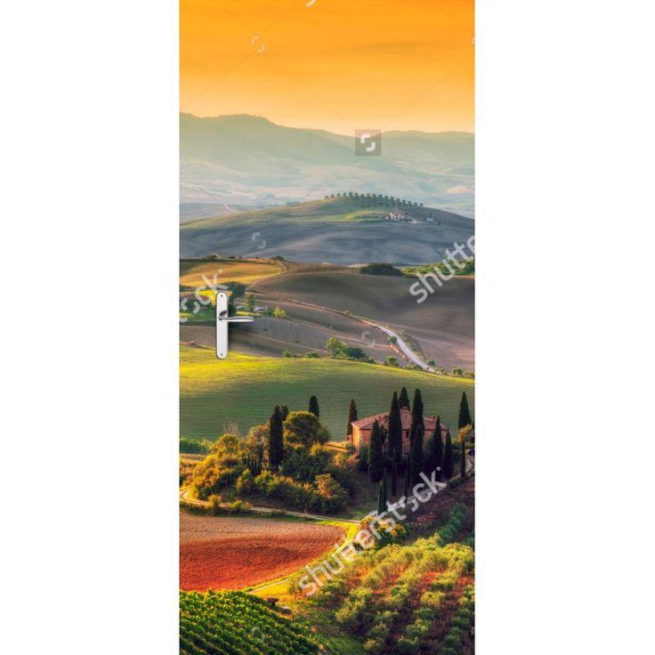 Deursticker Italiaanse velden | Een deursticker is precies wat zo'n saaie deur nodig heeft! YouPri biedt deurstickers zowel mat als glanzend aan en ze zijn allemaal weerbestendig! Verkrijgbaar in verschillende afmetingen.   #deurstickers #deursticker #sticker #stickers #interieur #interieurprint #interieurdesign #foto #afbeelding #design #diy #weerbestendig #italie #italiaans #veld #velden #natuur #vakantie #europa #zomer