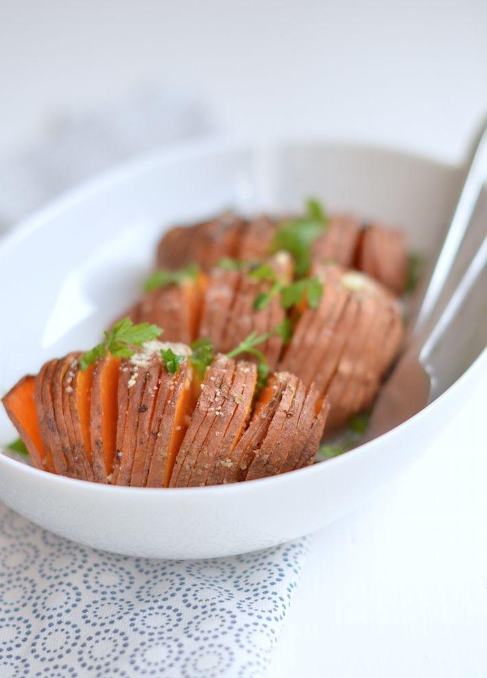 hasselback zoete aardappel