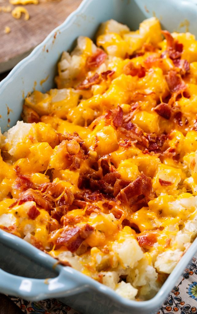 Cheesy Bacon Ranch Potatoes make such a delicious side dish.