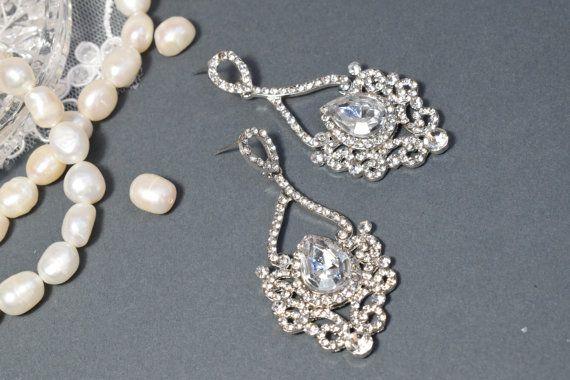 Chandelier Earring Wedding Earring Drop Dangle by Mkedesignwedding