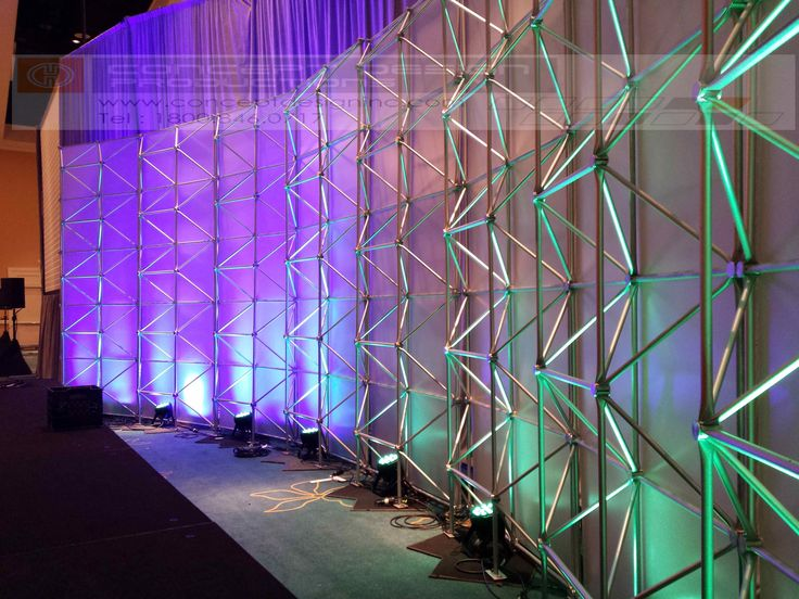 Typical set constructions are towers, walls, canopies, frameworks, 3D sculpture, 2D geometric shapes - either floor supported or flown. The Super Structure allows for easy application of graphics, decor lighting and/or neon. #design #events #corporate #staging #liveevents #liveshow #production  #eventplanning #event #creative #custom  #branding #logo #brand #modular