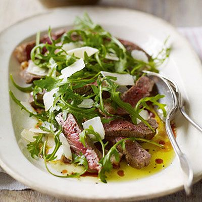Tagliata with Rocket and Parmesan Salad, a Heston Blumenthal recipe (no laboratory required)