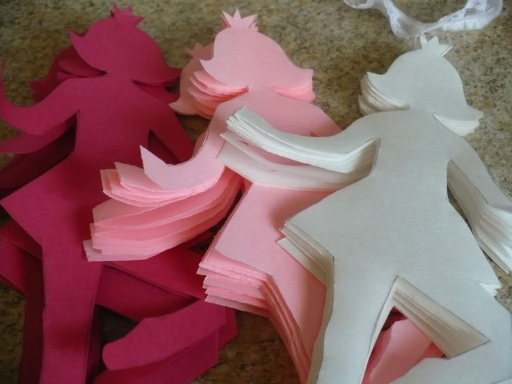 Ballerina Cutouts for Garlands - Find more Ballet Decorations and Birthday Party Ideas at www.birthdayinabo...