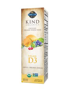 KIND Organics Vegan Vitamin D3 Spray 2 oz. Made from lichen, the only Vegan Vitamin D3. Lanolin free Vitamin D, for those allergic to lanolin.