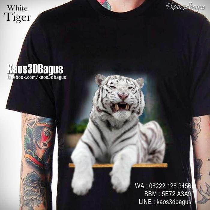 Kaos HARIMAU PUTIH, Kaos WHITE TIGER, Kaos MACAN PUTIH, Kaos TIGER, Kaos3D, Animal Lover, https://www.facebook.com/kaos3dbagus, WA : 08222 128 3456, LINE : Kaos3DBagus