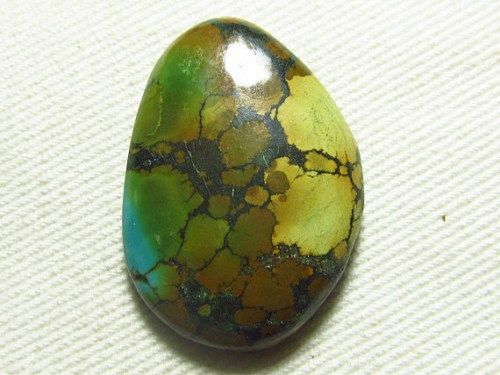 Natural Tibetan Turquoise Old Looking Fancy Shape Cabochon 20x30 mm