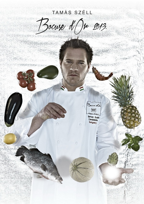 Tamas Szell, first Hungarian chef ever in the Bocuse d'Or 2013 finals. Event takes place January 29-30, 2013 in Lyon